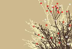 Flower branch design Stock Photos