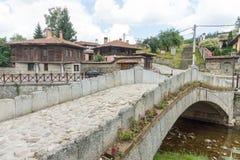 Flower Bridge in Koprivshtitsa in Bulgaria Stock Photography