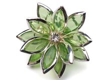 Flower broach Royalty Free Stock Photography