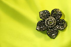 Flower brooch Stock Photography