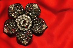 Flower brooch Royalty Free Stock Image