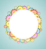 Flower bubble template Stock Photo