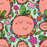 Flower bud fat seamless pattern Royalty Free Stock Images