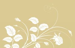 Flower bud and leaves pattern Royalty Free Stock Photos
