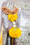 Flower On Buddha Hand Royalty Free Stock Image