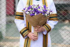 Flower bunch in commencement. Congratulations flower bunch in commencement ceremony day Stock Photo