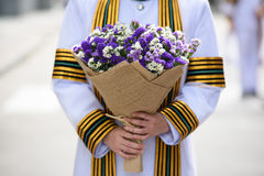 Flower bunch in commencement. Congratulations flower bunch in commencement ceremony day Royalty Free Stock Photos