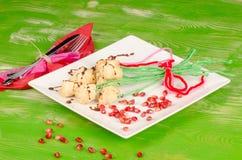 Flower bunch dessert royalty free stock photography