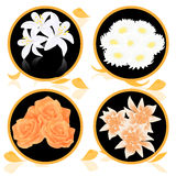Flower bunch icons. Illustration,  AI file included Stock Photos