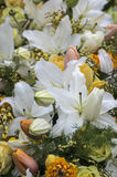 Flower bunch with lilies Royalty Free Stock Photo