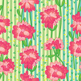 Flower Bunch Vertical Seamless Pattern Royalty Free Stock Images