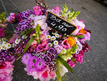 Flower bunches in floristry. Flower bunches for selling in floristry stock images