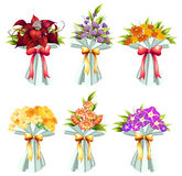 Flower bunches Stock Photos