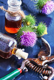 Flower and burdock extract Stock Images