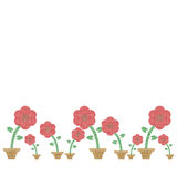 Flower burlap Royalty Free Stock Image