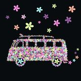 Flower bus Royalty Free Stock Photos