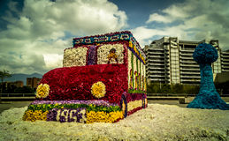 Flower bus Royalty Free Stock Image