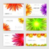 Flower business cards set Royalty Free Stock Photo