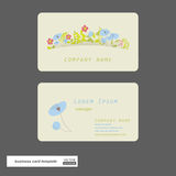Flower business cards. Royalty Free Stock Images