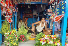 Flower Business in Kolkata Stock Image