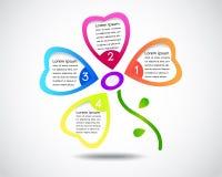 Flower business presentation/ modern design template Stock Photography