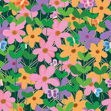 Flower buttefly fence seamless pattern Royalty Free Stock Image