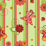 Flower and butterflies pattern seamless background vector illustration