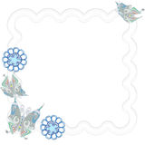 FLOWER  AND BUTTERFLY CARD Royalty Free Stock Image