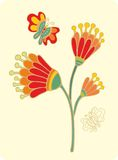 Flower with butterfly Stock Photos
