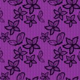 Flower and butterfly lacy seamless background Stock Photos