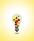 Flower butterfly Lightbulb Stock Images