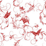 Flower and butterfly pattern Stock Photo