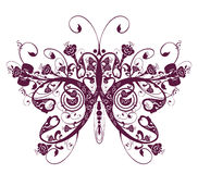 Flower and butterfly pattern vector illustration