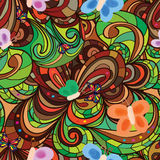 Flower butterfly vintage seamless pattern Royalty Free Stock Photo