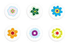 Flower buttons Royalty Free Stock Photography