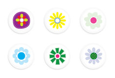 Flower buttons Stock Photo