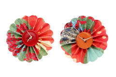 Flower buttons. Flower made wish button and paper Stock Photo