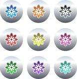 Flower buttons vector illustration