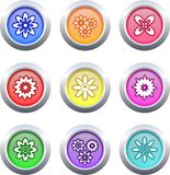 Flower buttons Stock Photography