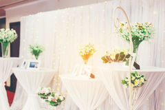 Flower in cage. Artificial  flower in cage for wedding and party decoration Stock Photo