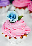 Flower cake. Cake with flower as decorated Royalty Free Stock Image
