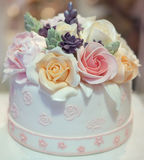 Flower Cake Stock Photo