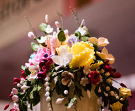 Flower cake decoration Stock Image