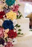 Flower cake decoration Stock Photos
