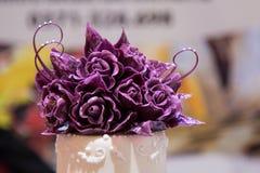 Flower cake decoration Stock Photo