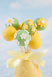 Flower cake pops Stock Photography