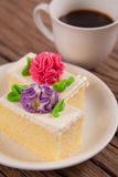 Flower Cake Stock Photo