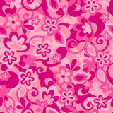 Flower Camo Seamless Repeat Pattern Royalty Free Stock Photos