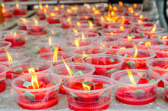 Flower candle Stock Images