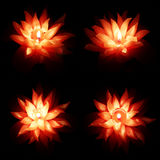 Flower candle darkness set Stock Image